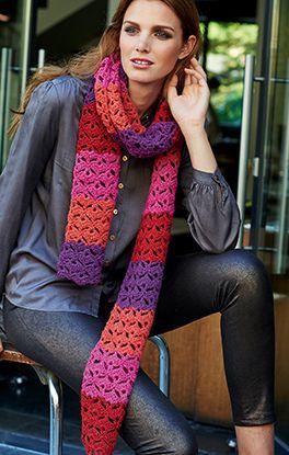 Häkel-Schal mit Bogen-Muster