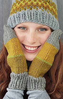 Handschuhe in Glatt-Rechts