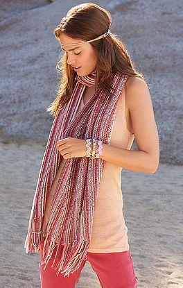 Schal mit Streifenfolge