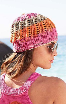 Mütze mit Lochstreifen