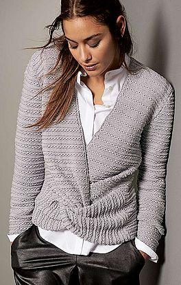 extravaganter Pullover mit Wickeloptik