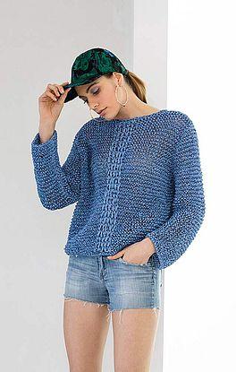 Pullover im Flechtmuster