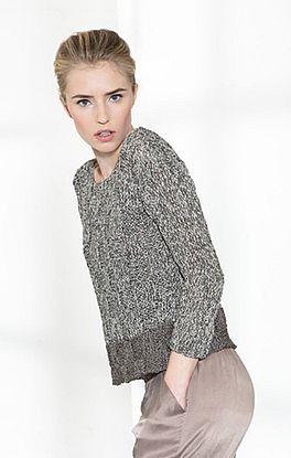 Pullover im Schachbrettmuster