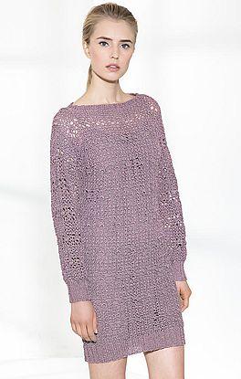 Kleid im Netzmuster