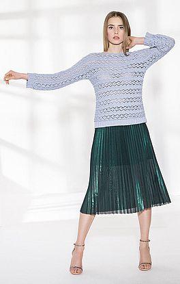 Pullover im Lochmuster