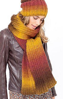 Schal im Farbverlauf