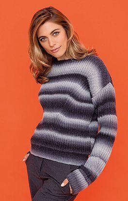 Pullover mit schrägem Maschenverlauf