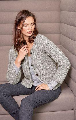 Jacke mit klassischem Muster