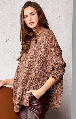 lässiger Cape-Pullover