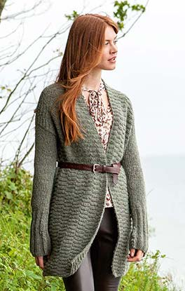 stylischer Long-Cardigan
