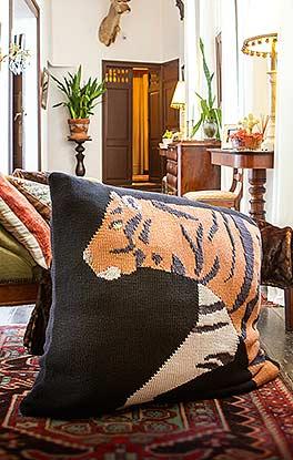 XXL-Kissen mit Tiger