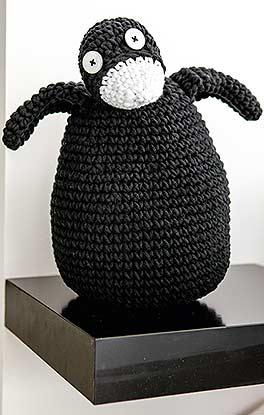 lustiger Häkel-Pinguin