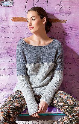 Pullover mit Lochreihen
