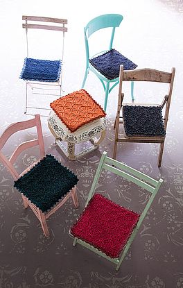 Stuhlauflagen mit Ajourmuster