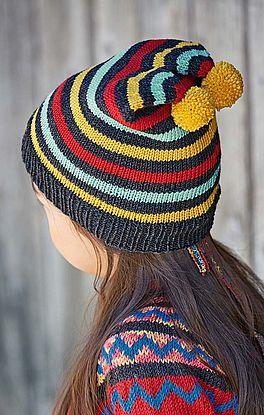 einfache Mütze mit zwei Pompons