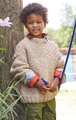 Pullover mit wirkungsvollem Strukturmuster
