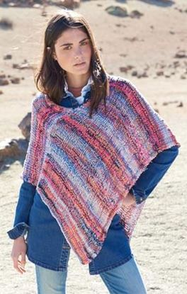 Rippenmuster Poncho