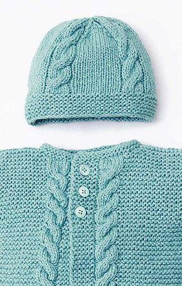 Mütze mit Muster und breitem Bund