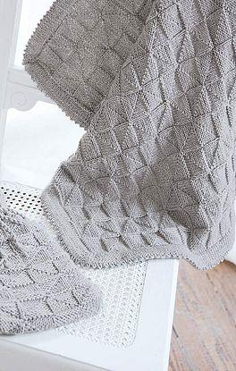 Decke im Rechts-Links-Muster