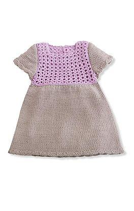 Kleid mit gehäkeltem Oberteil