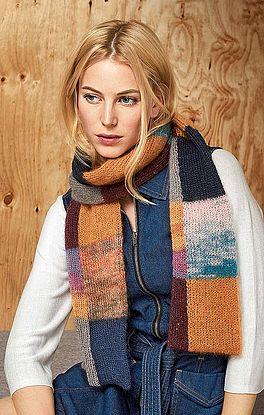 Schal mit Farbflächen
