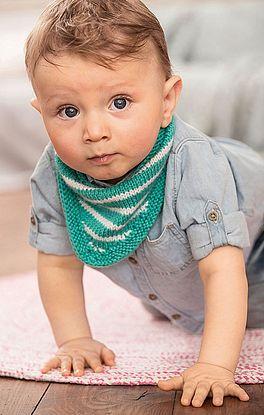 gestreiftes Dreieckstuch für Babys