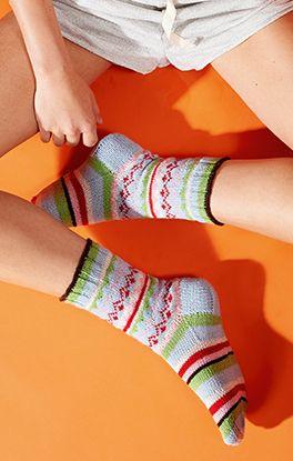 Socke Fair-Isle-Muster